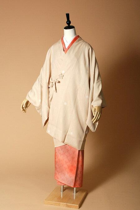 【高級着物コートレンタル】coat23-1 ベージュ ほたるぼかし MLサイズ ほたるぼかし