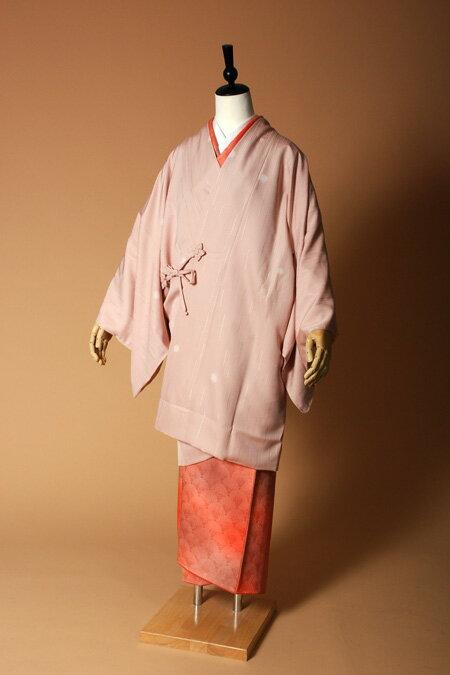 【高級着物コートレンタル】coat23-2 ピンク ほたるぼかし MLサイズ ほたるぼかし