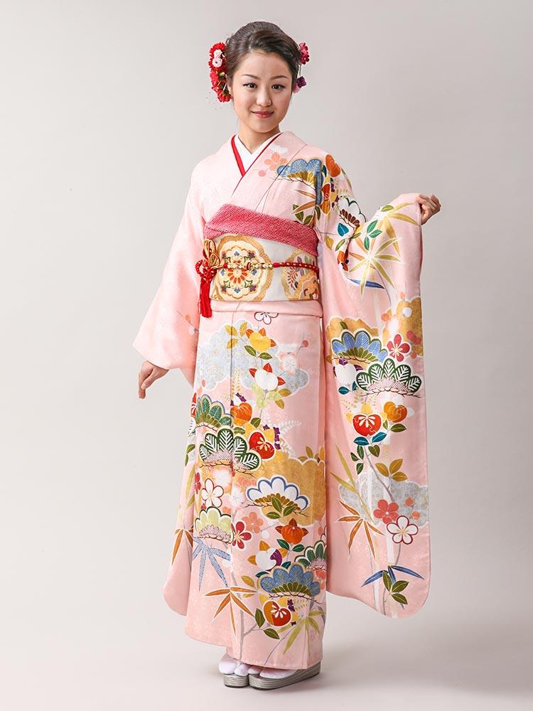 【高級振袖レンタル】K-27  Mサイズ ピンク