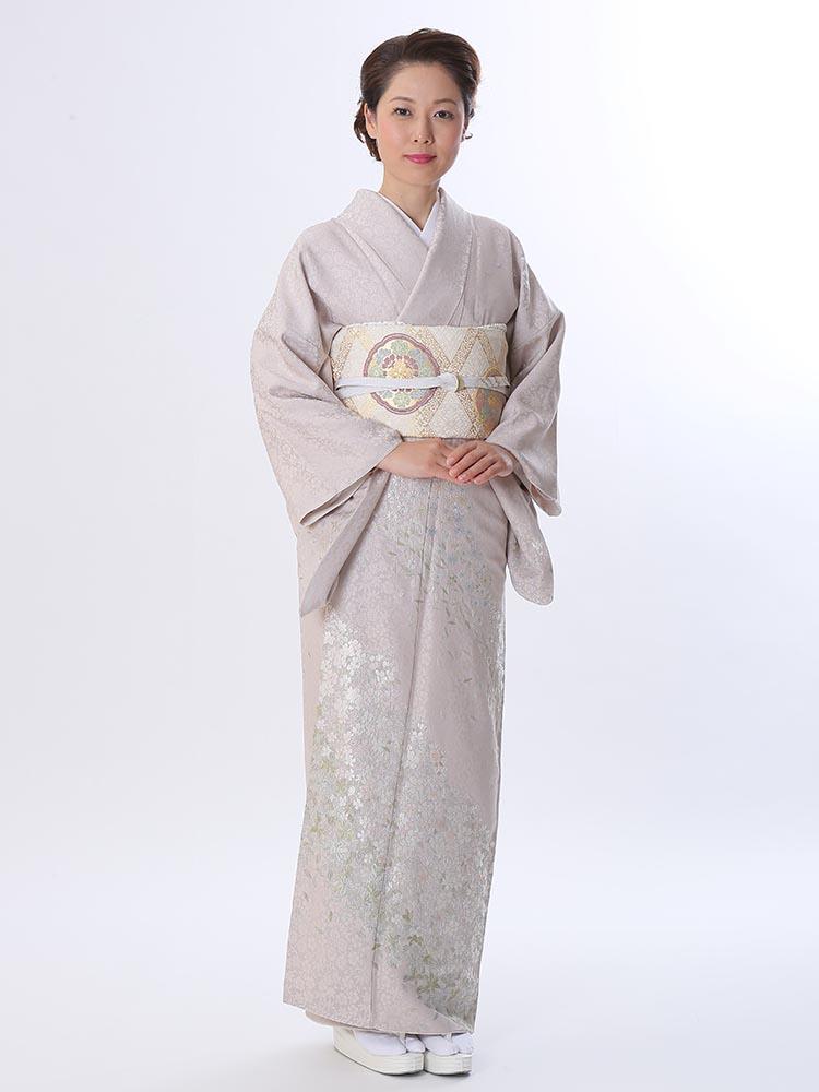 【高級訪問着レンタル】h-420 華やかかつ上品 Mサイズ 桜