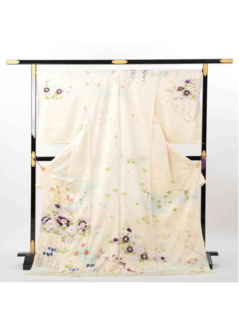 【高級訪問着レンタル】h-440 成謙謹製 四季の花 LLサイズ 四季の花
