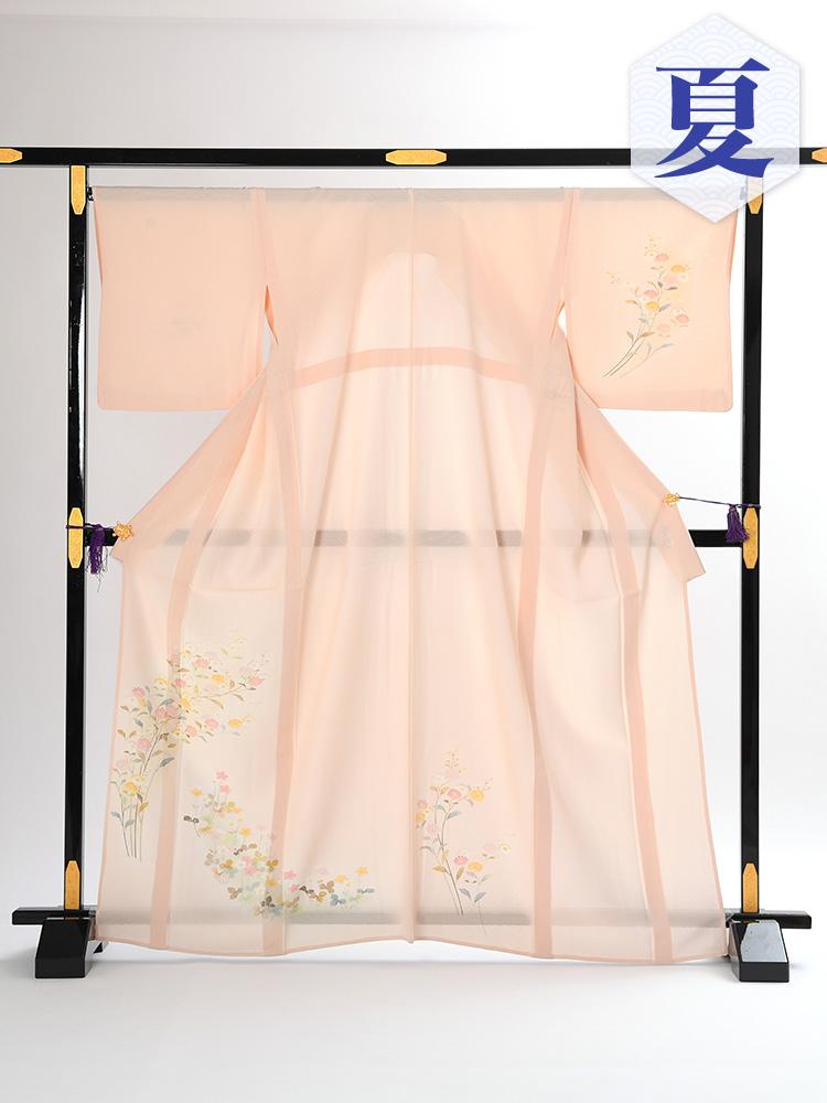 【高級訪問着レンタル】n-2 盛夏 ピンク 花 MLサイズ 花