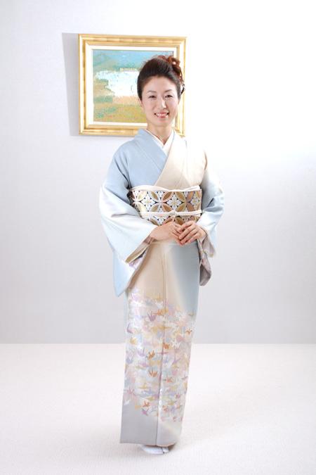 【高級訪問着レンタル】y-1 山口美術織物 総刺繍 千羽 MLサイズ 千羽鶴