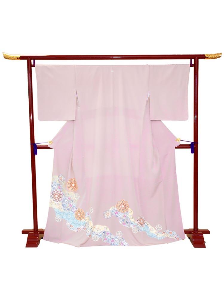 【高級色留袖レンタル】i-119 ピンク紫 華文 Mサイズ 華文