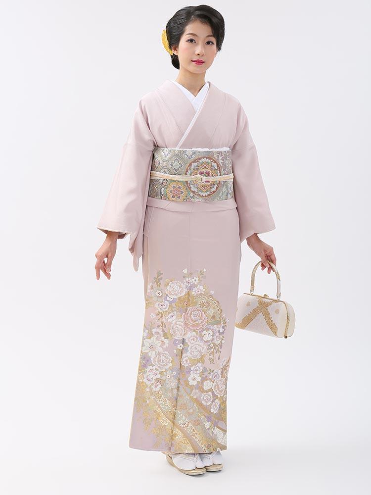 【高級色留袖レンタル】I-yumi-251 桂由美ブランド 藤色 MSサイズ 薔薇