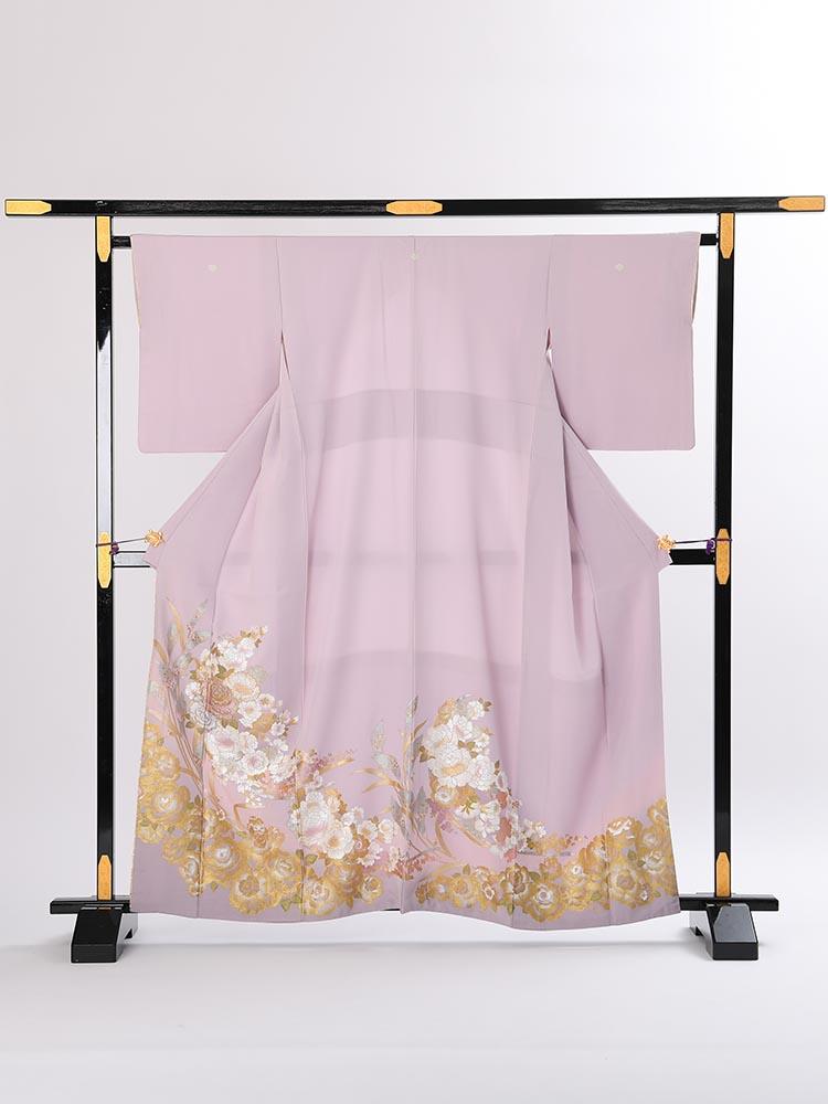 【高級色留袖レンタル】I-yumi-253 桂由美ブランド 紫 MSサイズ 薔薇