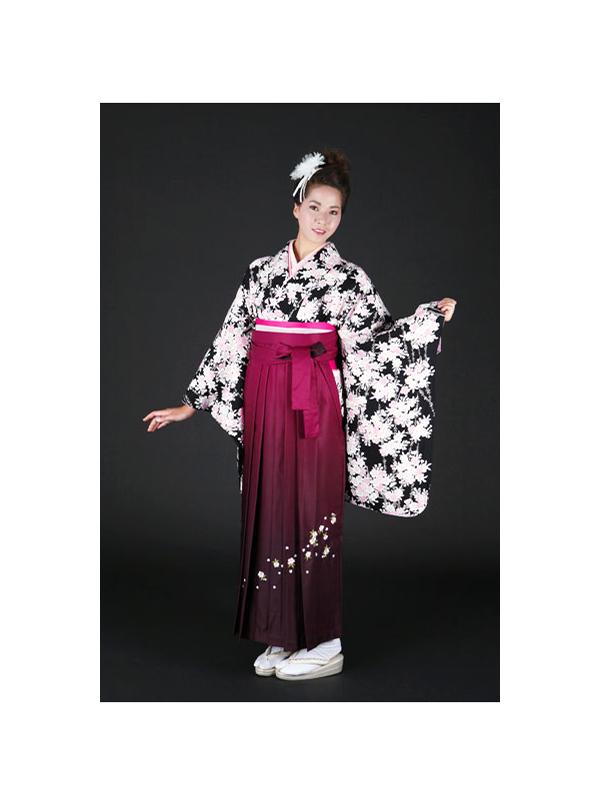 正絹の袴着物レンタル。品番2ーL1