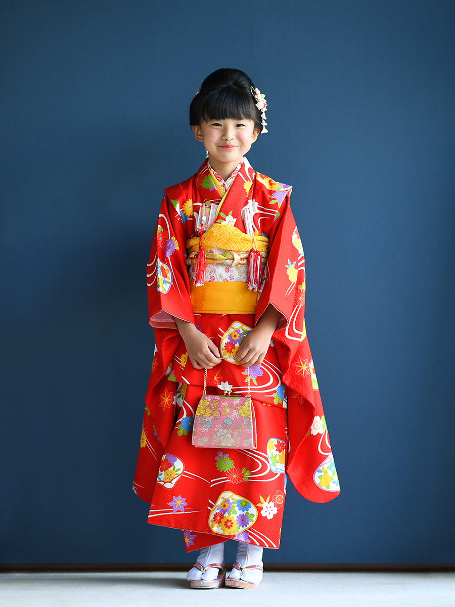 正絹高級7歳女の子きものレンタル