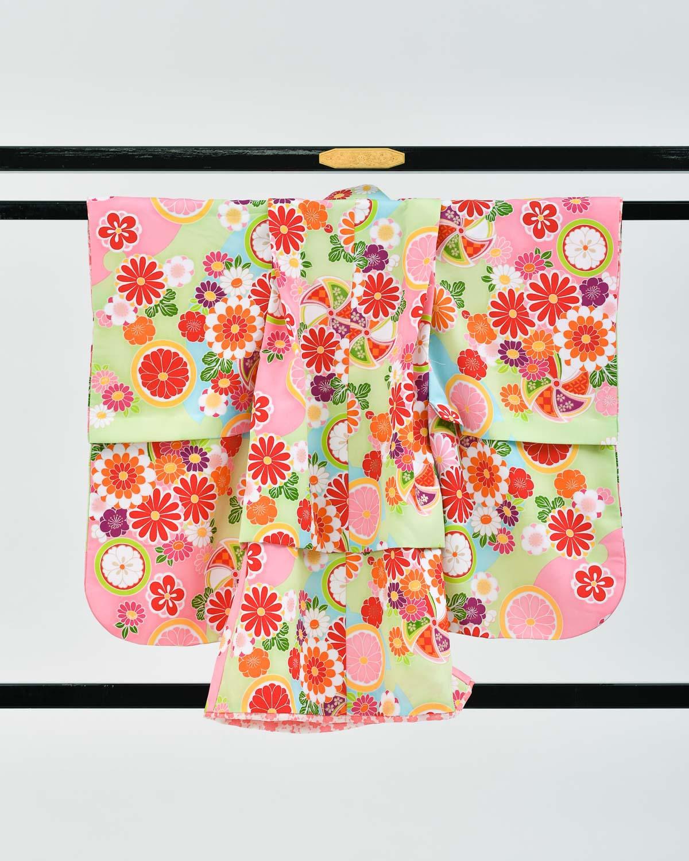 【七五三の7歳着物レンタル】ポップなデザイン 品番:7-211_kimono