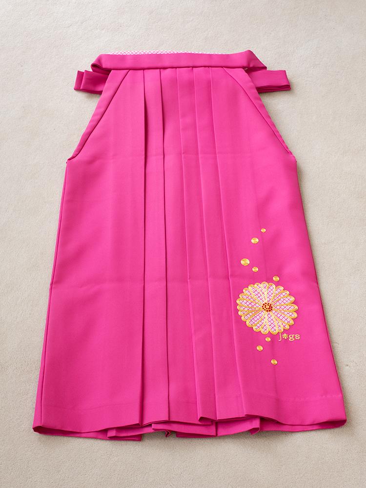 小学生用の袴レンタル・刺繍ありのピンク色・145cm-153cm向け