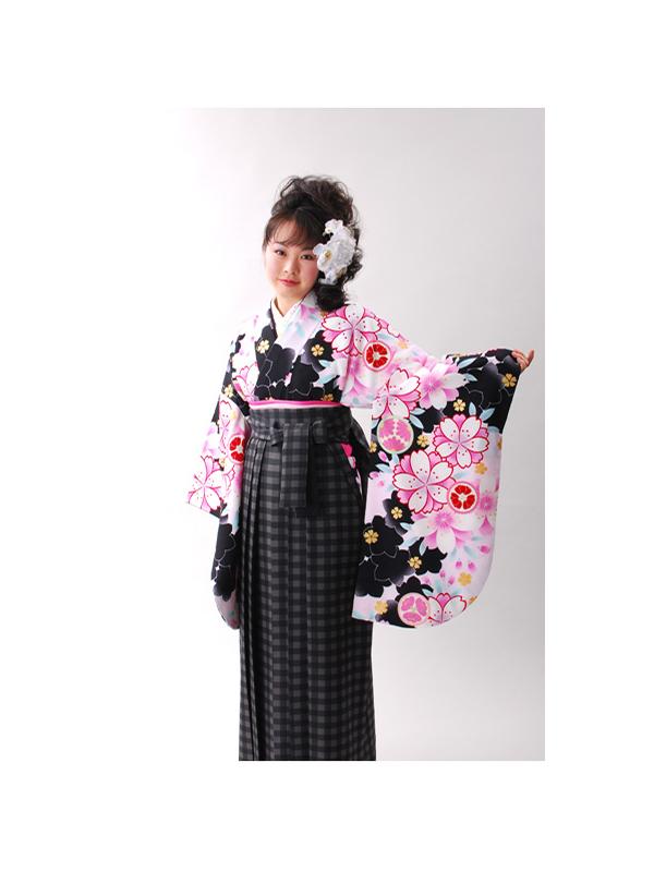 【高級卒業式袴レンタル】a-505 白地 桜づくし サイズ 桜
