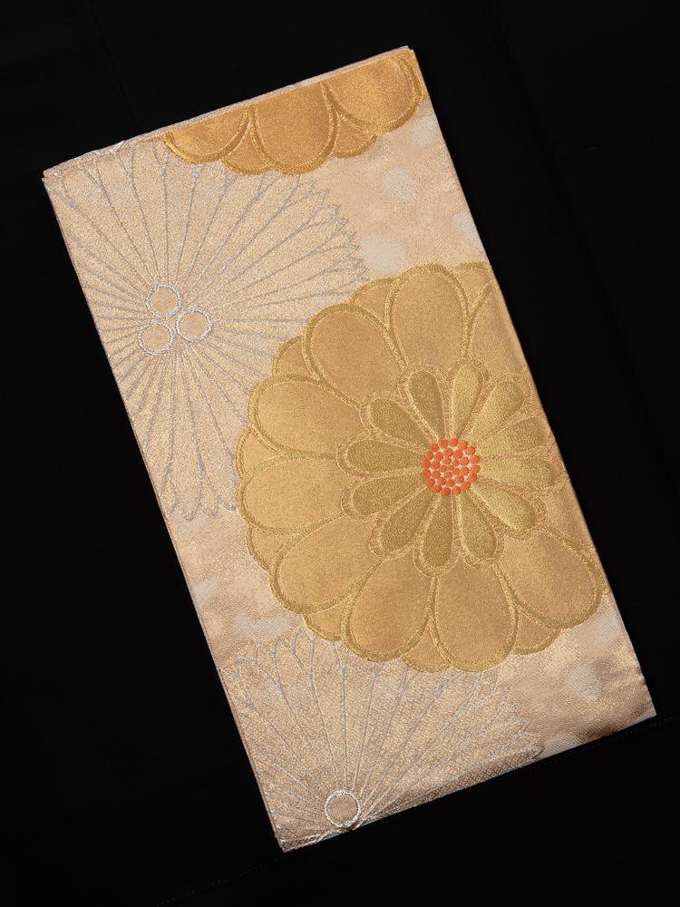 帯清の振袖帯(菊柄)
