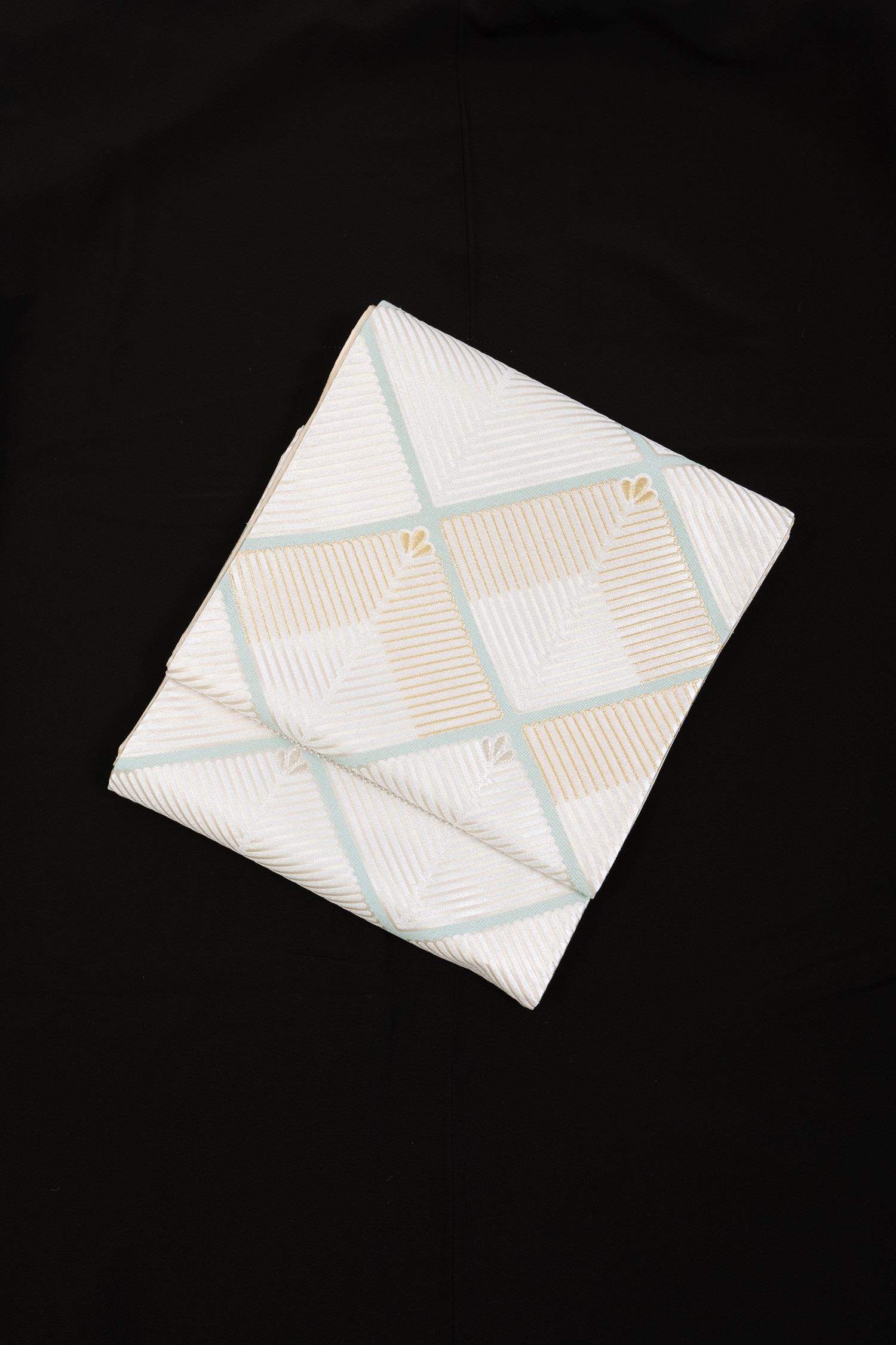 【高級帯レンタル】obi-363 高級袋帯レンタル「菱・松葉・河合美術織物」