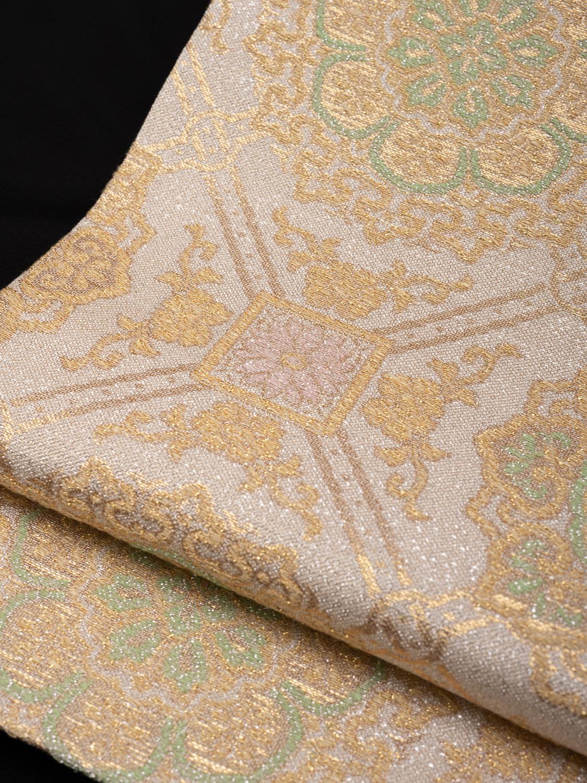 【高級帯レンタル】obi-364 高級袋帯レンタル「七宝柄・篠屋」