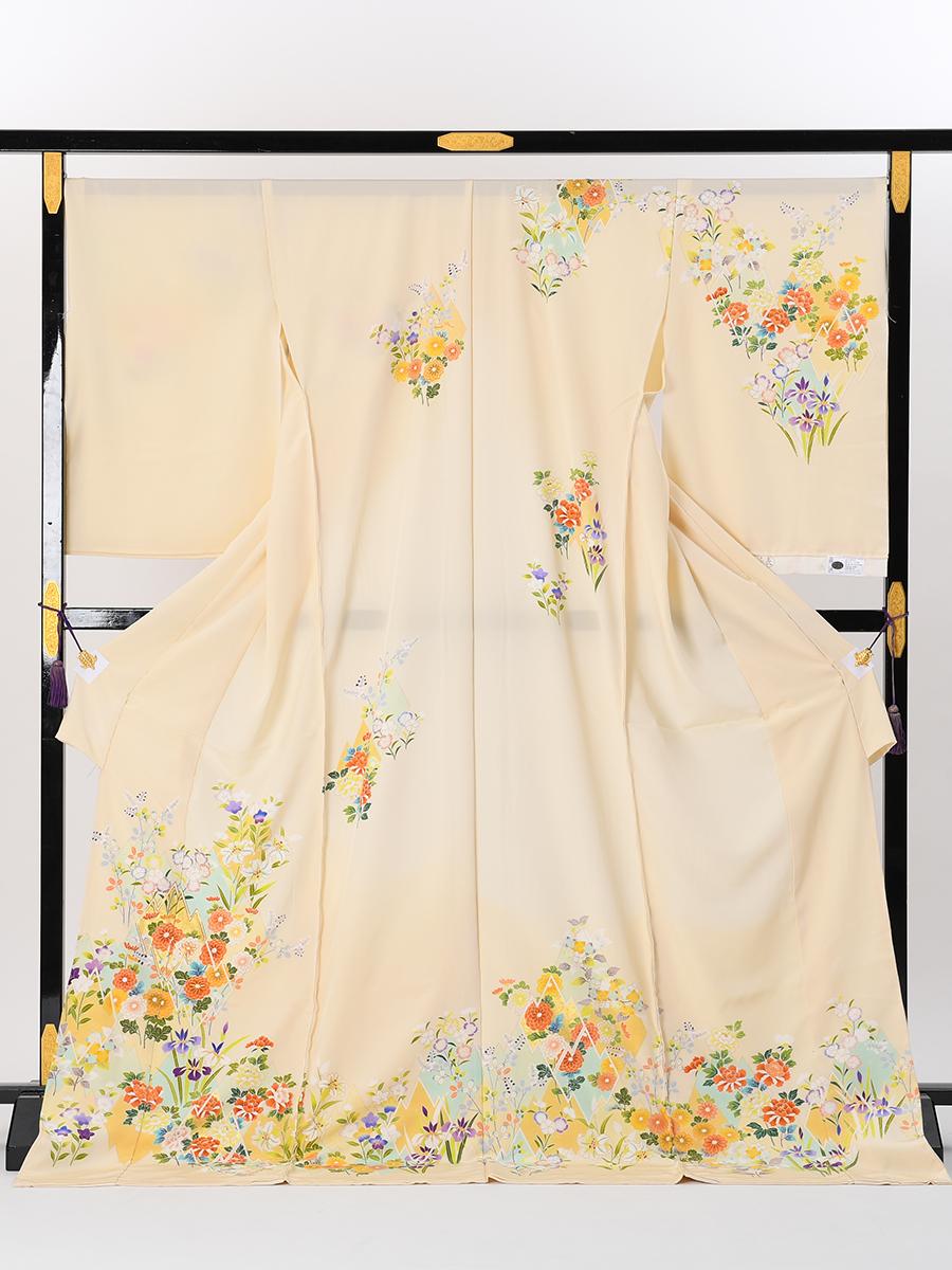 【最高級訪問着オーダーレンタル】オーダーレンタル訪問着・菱健謹製「古典柄・クリーム色」品番:order202002