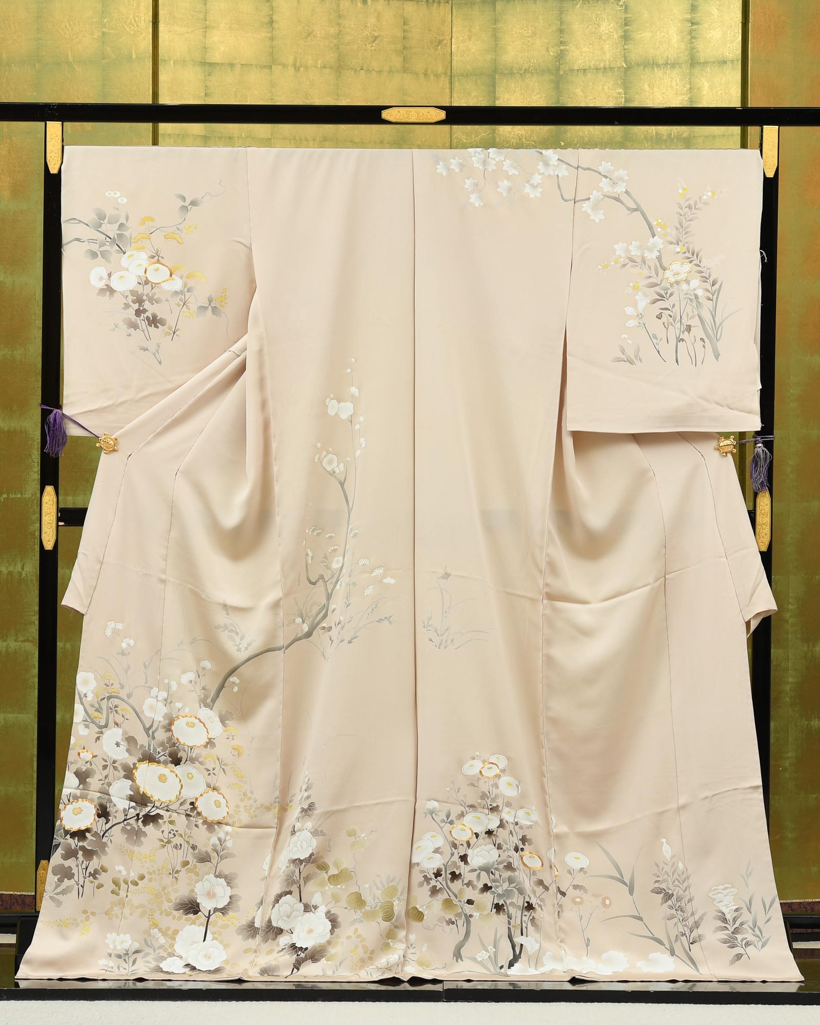 【最高級訪問着オーダーレンタル】オーダーレンタル訪問着・成謙謹製「ベージュ地・菊柄」品番:order202102