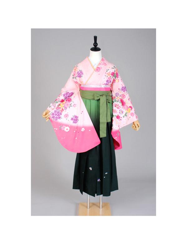 【高級卒業式袴レンタル】p-3 ピンク 小花 サイズ 小花