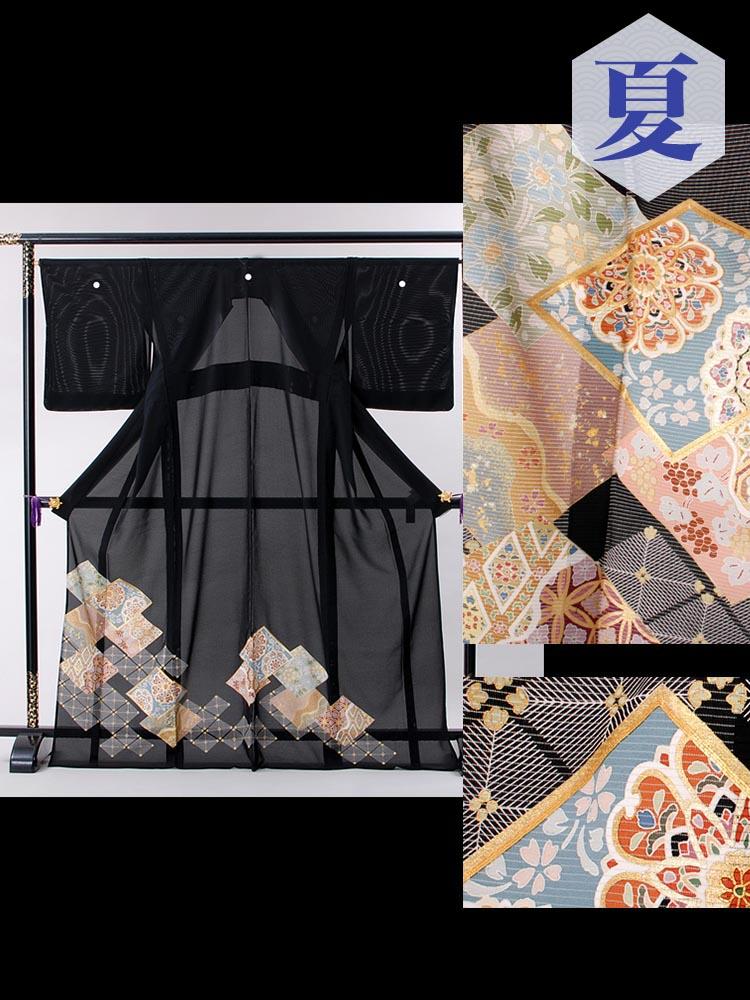 絽の黒留袖レンタル・品番rt-7番