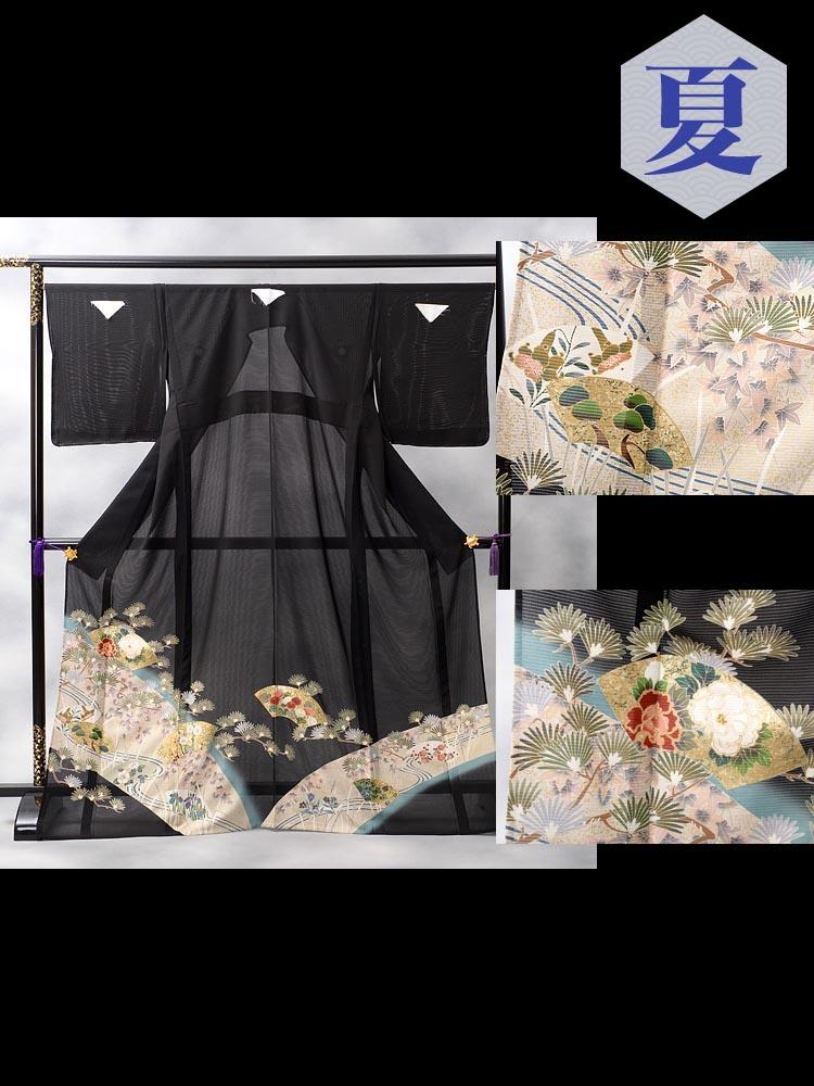 絽の黒留袖レンタル・品番rt-8番