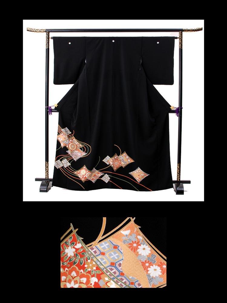 ご親戚向けの格安な黒留袖レンタル。品番t-320。小さいサイズで低価格が嬉しい留袖です。