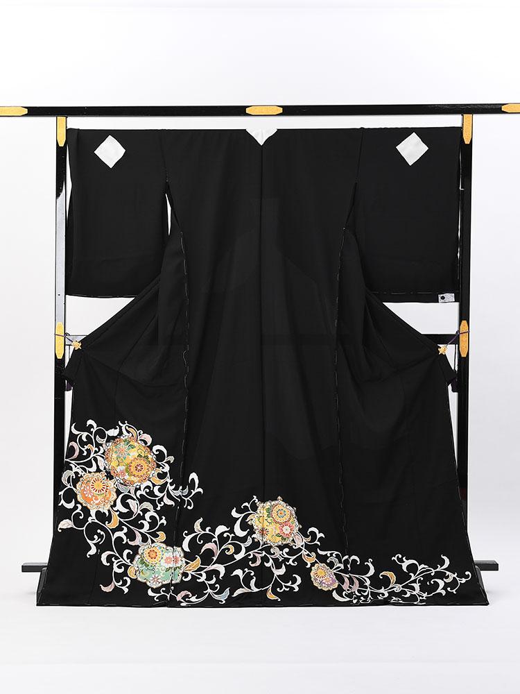 【最高級の京友禅留袖レンタル】品番:t-672番 唐草柄 標準のMLサイズ
