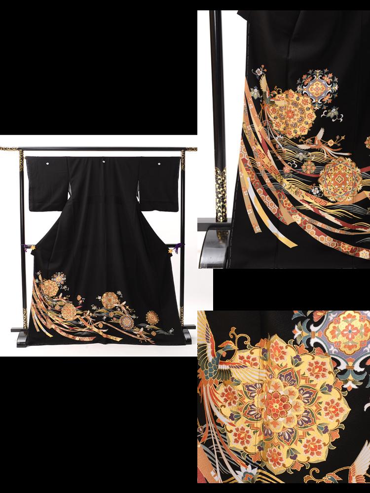 格安の黒留袖レンタル。品番tm-12。フルセットレンタルなので、とてもお得です。