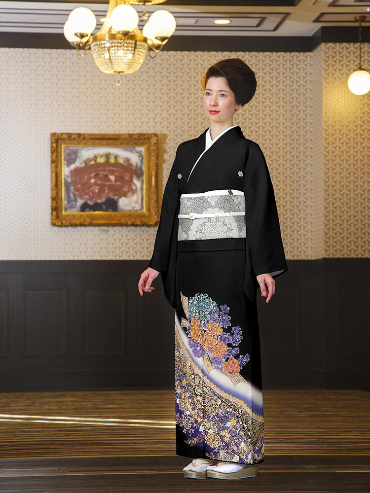 桂由美留袖レンタル・小さいサイズ(品番yumi-katsura12)