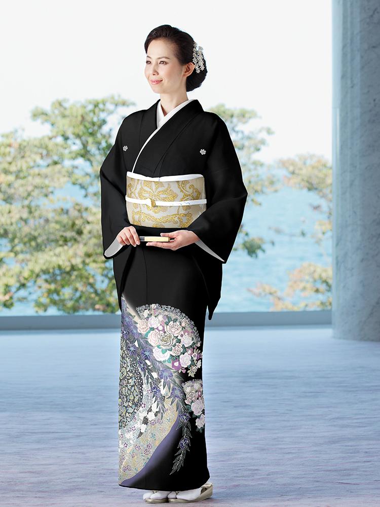 桂由美の留袖レンタル、背の高い方向け(15番)