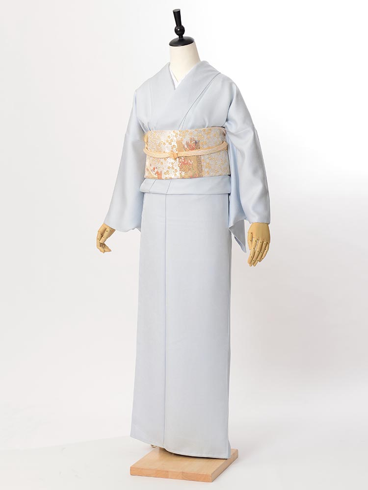 【高級色無地レンタル】muji-101 淡いブルーグレー MLサイズ