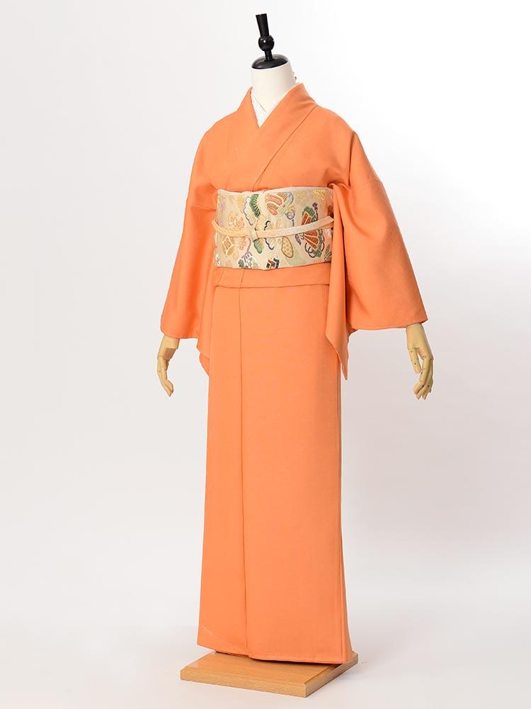 【高級色無地レンタル】muji-103 オレンジ MLサイズ