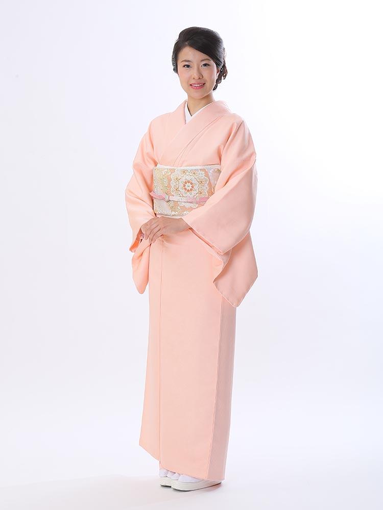 【高級色無地レンタル】muji-104 柔らかいピンク MLサイズ
