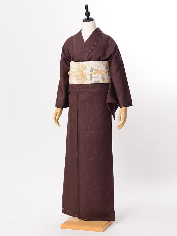 【高級色無地レンタル】muji-106 茶紫 LOサイズ