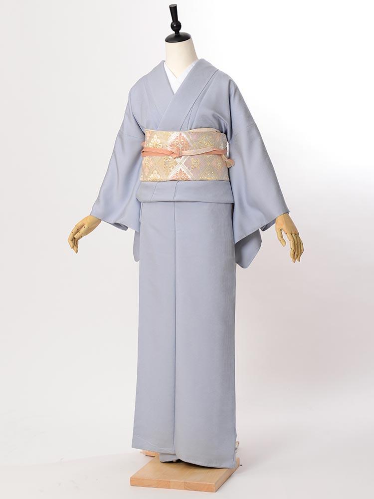 【高級色無地レンタル】muji-107 ブルーグレー MSサイズ