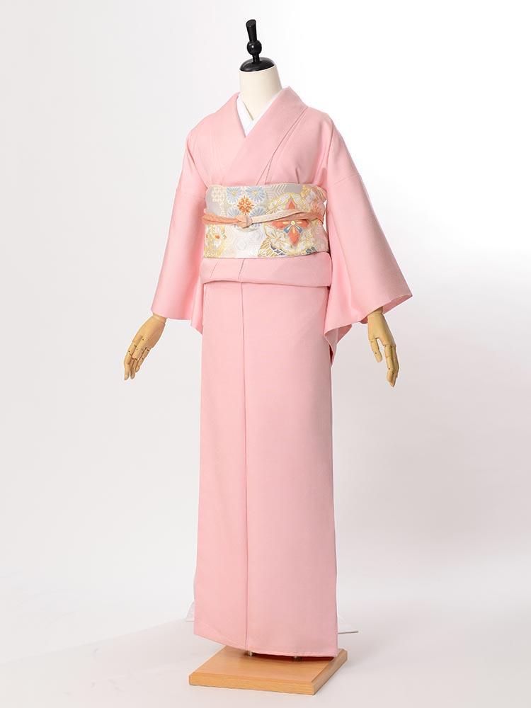 【高級色無地レンタル】muji-108 濃いめのピンク MSサイズ