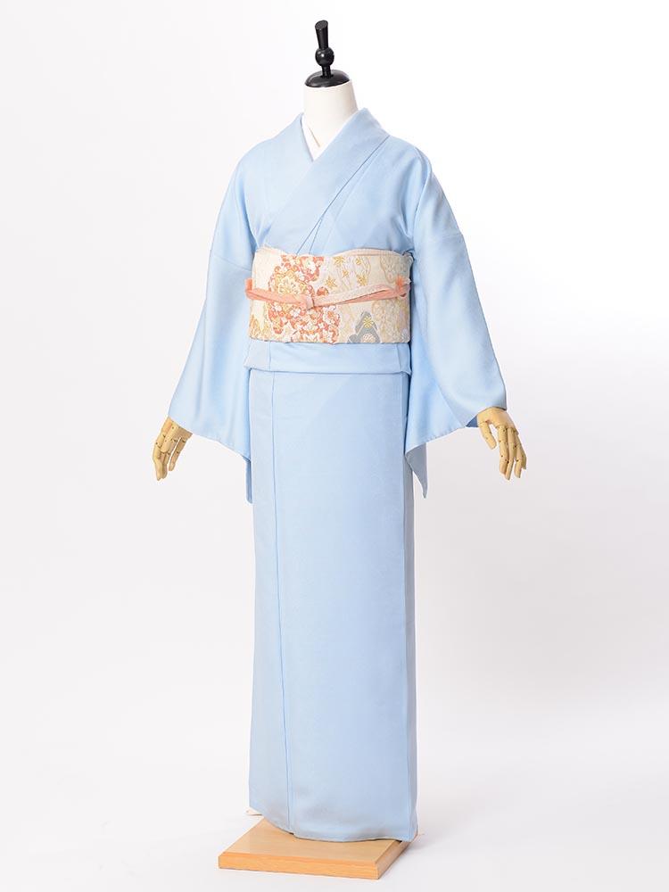 【高級色無地レンタル】muji-110 きれいな水色 LLサイズ
