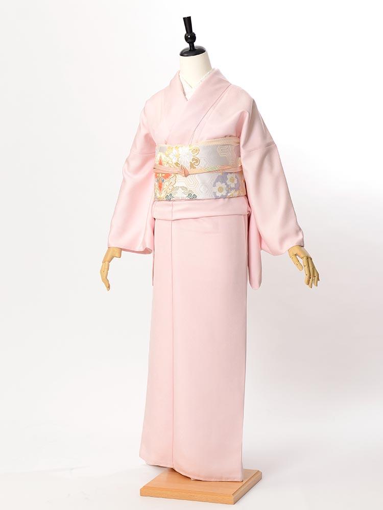 【高級色無地レンタル】muji-112 淡いピンク LLサイズ