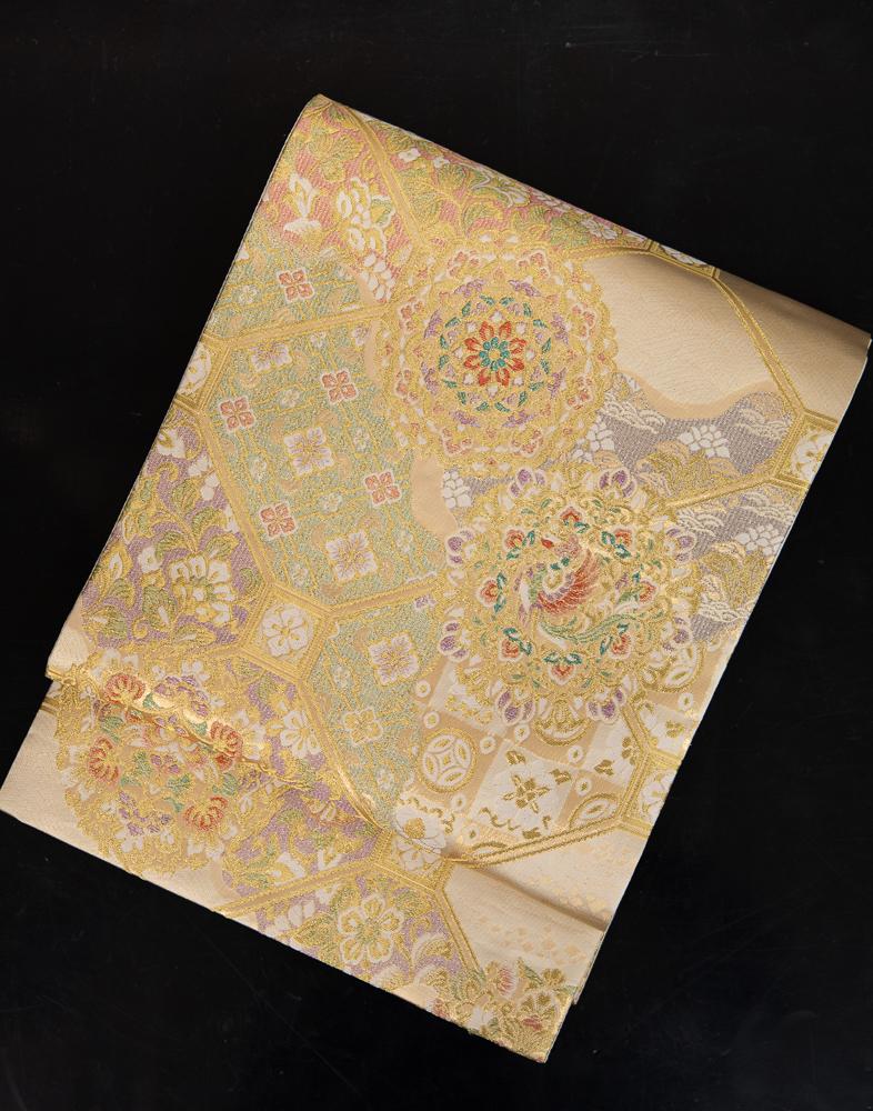 【高級帯レンタル】obi-157 袋帯レンタル「正倉院鳳凰・蜀江柄」