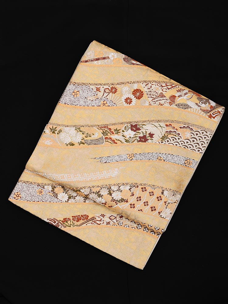 【高級帯レンタル】obi-23-205 加納幸謹製 押箔小袖静海柄 サイズ 押箔小袖静海柄