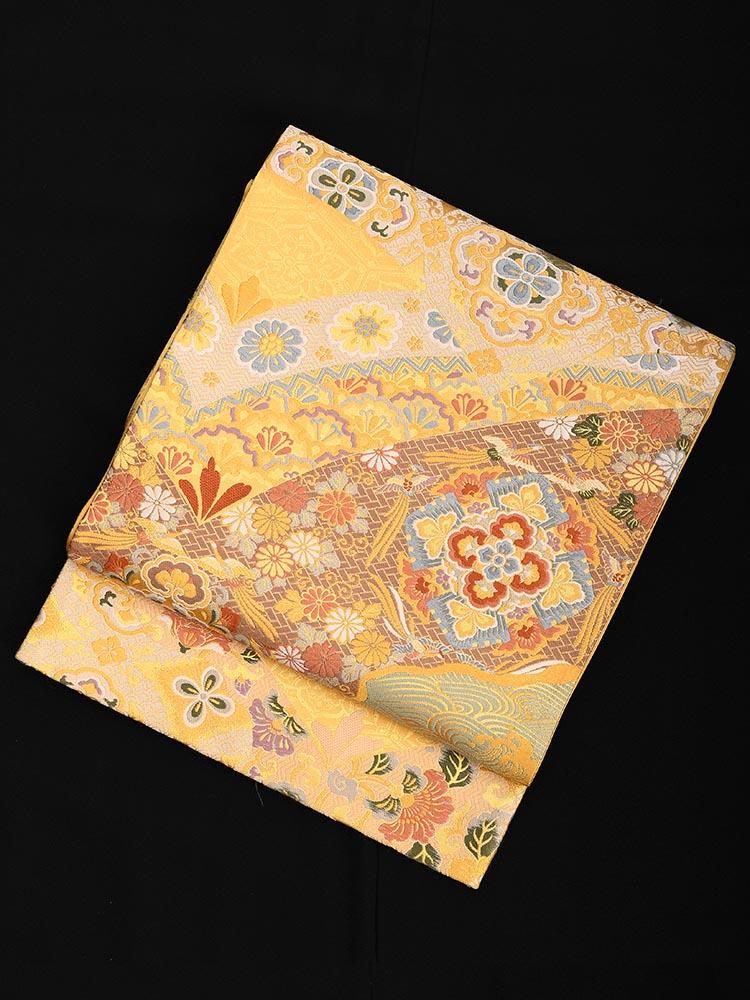 【高級帯レンタル】obi-23-227 京藝謹製 ブルー サイズ 有職文様