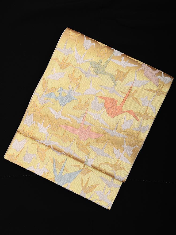 【高級帯レンタル】obi-25-277 山口美術織物 千羽 サイズ 千羽鶴