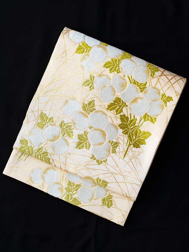【高級帯レンタル】obi-26-282 山口美術織物 ススキ サイズ ススキ