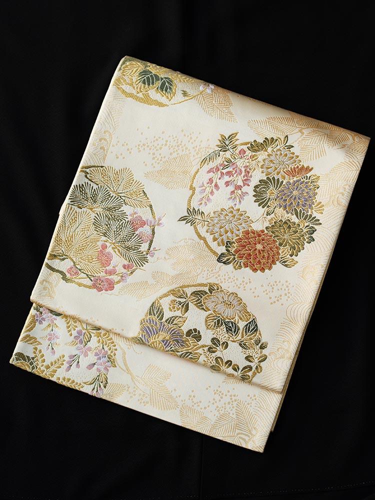 【高級帯レンタル】obi-26-288 花丸文