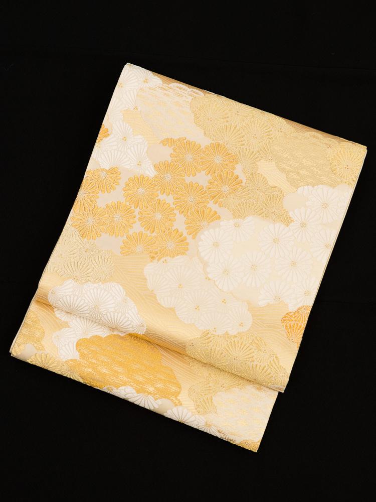 【高級帯レンタル】obi-345 高級袋帯レンタル「松菊重ね文・山口美術織物」