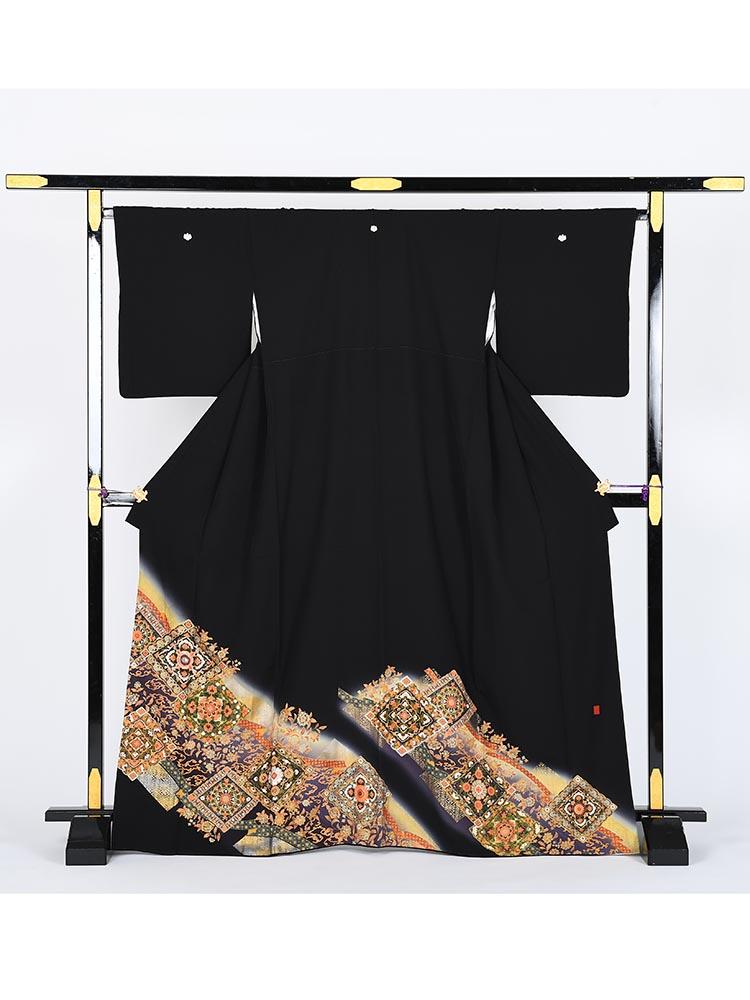 【高級黒留袖レンタル】kansai-4 山本寛斎ブランド・正倉院 MLサイズ 正倉院
