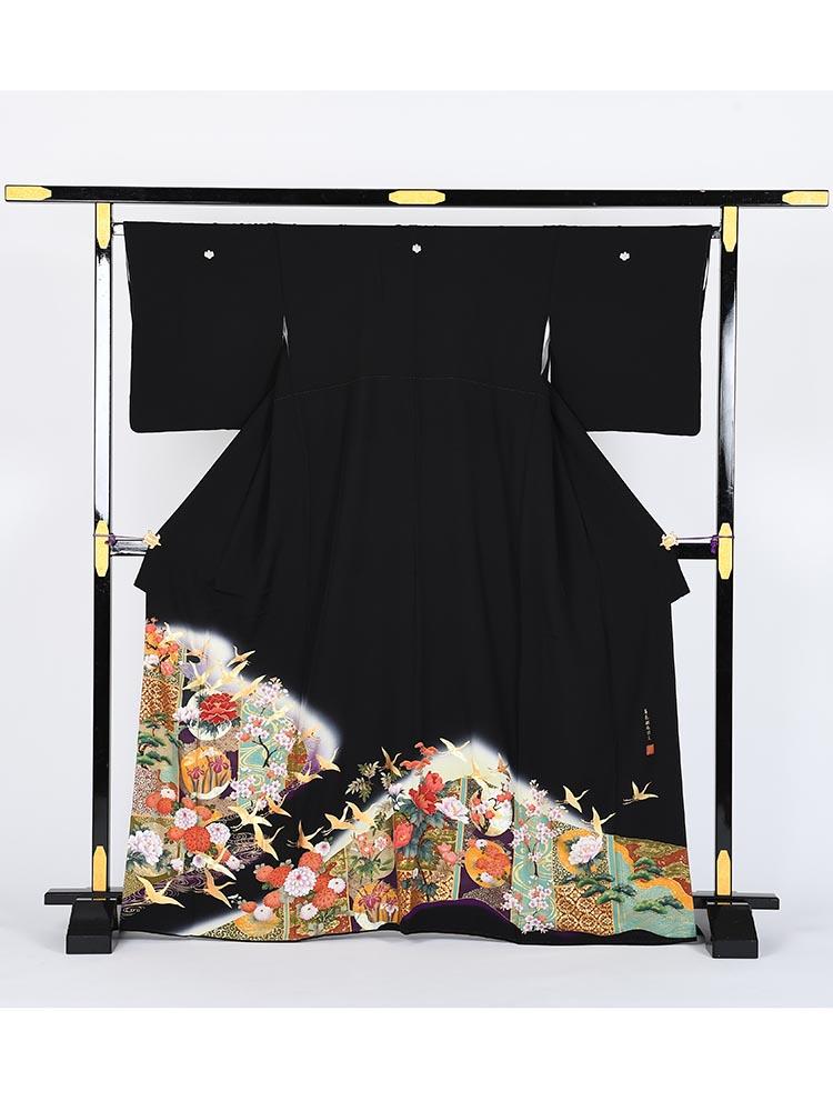 【高級黒留袖レンタル】kansai-9 山本寛斎ブランド・ MLサイズ
